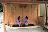 下呂に新名所「鷺の足湯」誕生