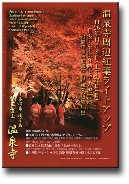 温泉寺紅葉ライトアップ2014